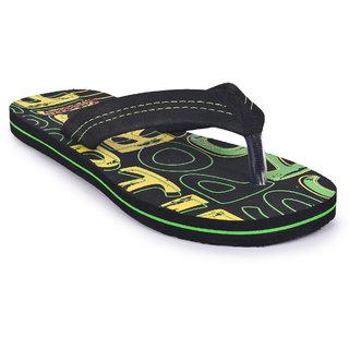Sportif Mens Black Flip Flops