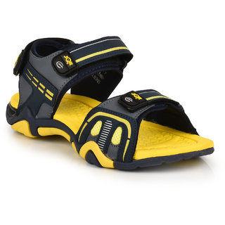 Jqr Mens Yellow Velcro Floaters