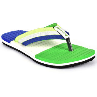 Sportif Mens Green Flip Flops