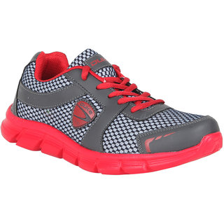 Duke Mens Gray Lace-Up Running Shoes