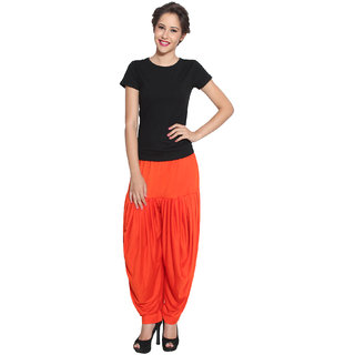 Pietra Orange colored Pan Style Dhoti