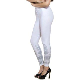 Pietra White Cotton Lycra Palazzos