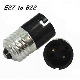 E27 to B22 LED Halogen CFL Light Base Bulb Lamp Adapter Converter Socket Holder