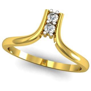 JewelHub SI-IJ Diamond  Ring 0.08 ct /2.04 gm 18k Yellow Gold