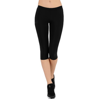 Pietra black colored plain Capri