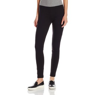 Pietra black colored plain legging