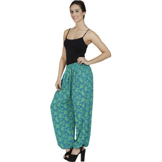 Pietra Sky Blue colored with flower motif Harem Pants