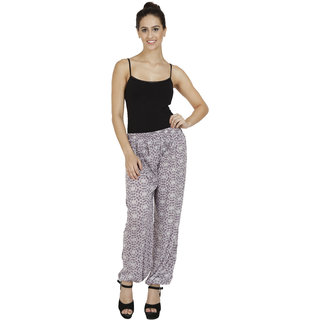 Pietra White colored printed Harem Pants