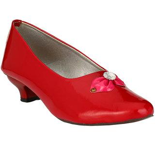 BONTONO Synthetic Leather Block Heel Casual Shoes