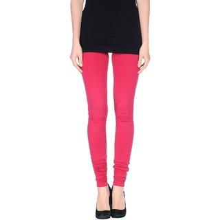 Pietra Dark Pink colored plain legging