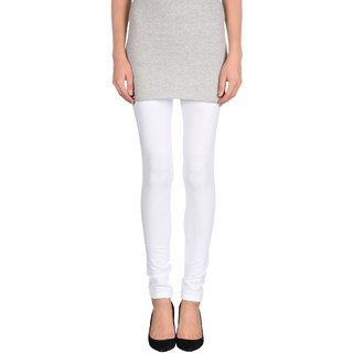 Pietra White colored plain legging