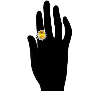 Anuradha Art Yellow Colour Stylish Designer Finger Ring For Women/Girls