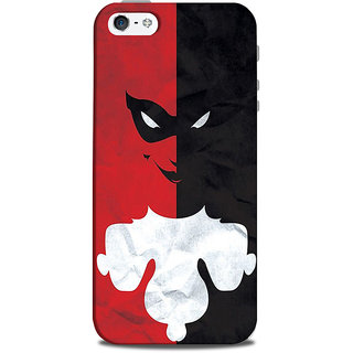 Mikzy Two Face Clown Half Red  Half Black Pattern Printed Designer Back Cover Case for Iphone 5/5S