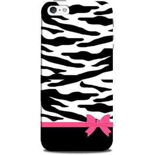 Mikzy Pink Ribbon On Black And White Pattern Printed Designer Back Cover Case for Iphone 5/5S