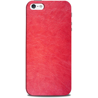 Mikzy Plain Red Effect Printed Designer Back Cover Case for Iphone 5/5S