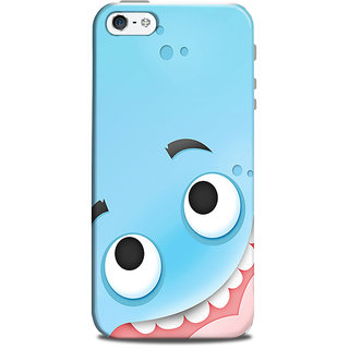 Mikzy Big Eyes Cartoon Printed Designer Back Cover Case for Iphone 5/5S