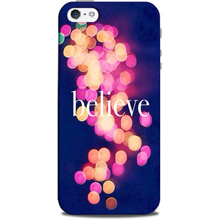 Mikzy Believe On Bubbles Background Printed Designer Back Cover Case for Iphone 5/5S