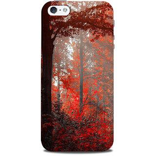 Mikzy Red Leaf Landscape Printed Designer Back Cover Case for Iphone 5/5S