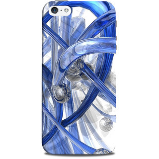 Mikzy 3D Blue Pattern Printed Designer Back Cover Case for Iphone 5/5S