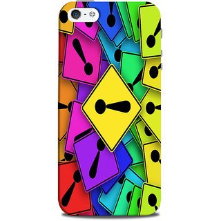 Mikzy Multicolour Exclamation Mark Pattern Printed Designer Back Cover Case for Iphone 5/5S