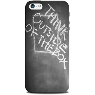Mikzy Think Out Side Of The Box Printed Designer Back Cover Case for Iphone 5/5S