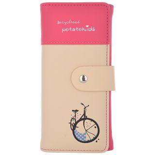 Cuddle Bicycle Design Wallet-Pink