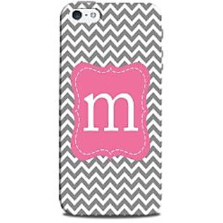 Mikzy Letter M Written On Zigzag Pattern Printed Designer Back Cover Case for Iphone 5/5S