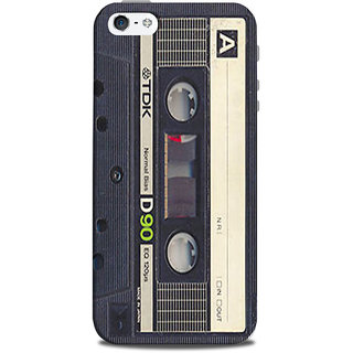 Mikzy Radio Cassette Shape Printed Designer Back Cover Case for Iphone 5/5S