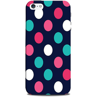 Mikzy Multicolour Polka Dots Printed Designer Back Cover Case for Iphone 5/5S