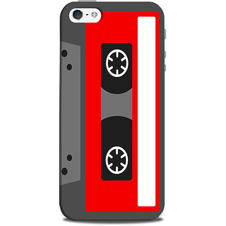 Mikzy Red And Grey Casette Printed Designer Back Cover Case for Iphone 5/5S