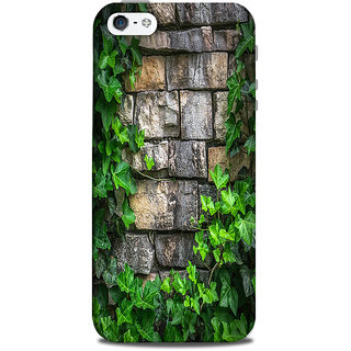Mikzy Green Leaf Pattern Effect Printed Designer Back Cover Case for Iphone 5/5S