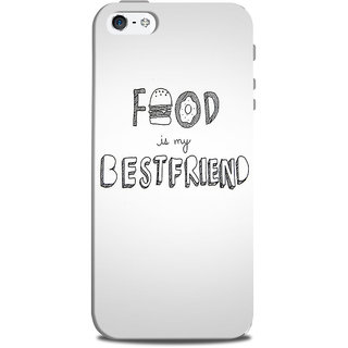 Mikzy Food My Best Friend Grey Pattern Printed Designer Back Cover Case for Iphone 5/5S
