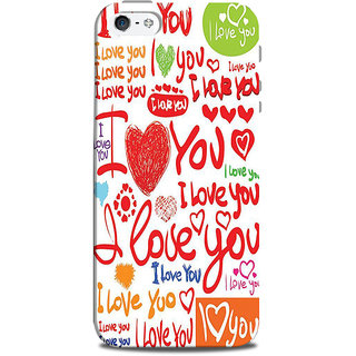 Mikzy I Love You Pattern Printed Designer Back Cover Case for Iphone 5/5S