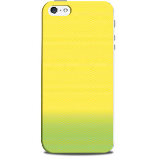 Mikzy Yellow And Green Pattern Printed Designer Back Cover Case for Iphone 5/5S