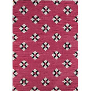 Flat Weave Flat Weaves Magenta Cotton Area Rugs By Jaipur Rugs