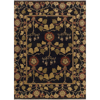 Classic Hand Knotted Deep Charcoal Wool Area Rugs By Jaipur Rugs