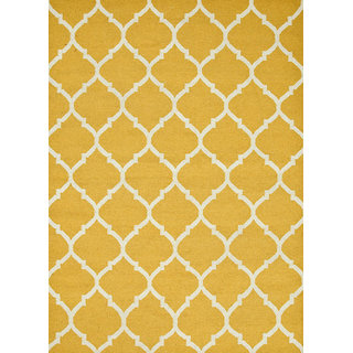 Flat Weave Flat Weaves Bright Yellow Wool Area Rugs By Jaipur Rugs