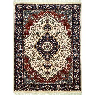 Classic Hand Knotted Suntan Yellow Wool Area Rugs By Jaipur Rugs