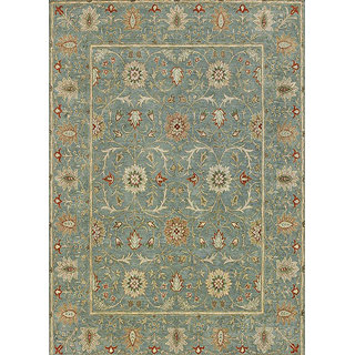 Classic Hand Tufted Sea Green Wool Area Rugs By Jaipur Rugs