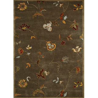 Transitional Hand Tufted Gray Brown Wool Area Rugs By Jaipur Rugs