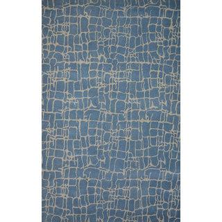 Rugs N More hand tufted Bluebeige wool 5ft x 8ft carpe
