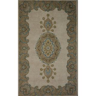 Rugs N More hand tufted Brown wool 5ft x 8ft carpet