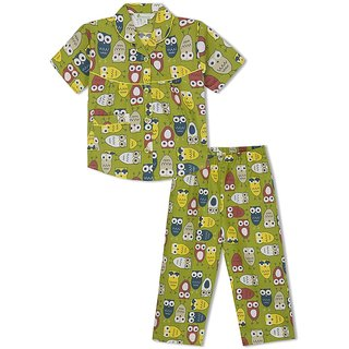 GreenApple Watchful Owls Girls Nightsuit