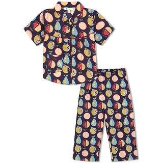 GreenApple Fruity Treat Girls Nightsuit