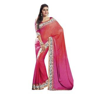 Triveni Multicolor Jacquard Printed Saree With Blouse