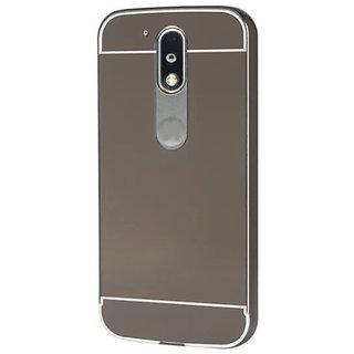 wholesale dealer 95de3 e5919 Motorola Moto G4 Plus Mirror Back Cover By sami - Silver