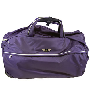 Polo House 24 Inch 2 Wheel Duffel Bag-Purple Emzlug11174Ds24Purple