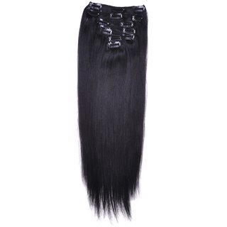 Clip-In Straight Hair - 7pieces/100g - Natural Black(1B#)
