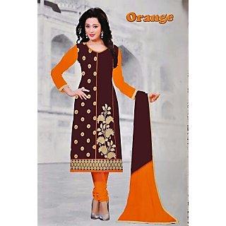 Dharmnandan fashion cotton fancy dress material