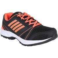 Bostan Men Black  Orange Shoes